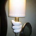 Bathroom Lamp Holder